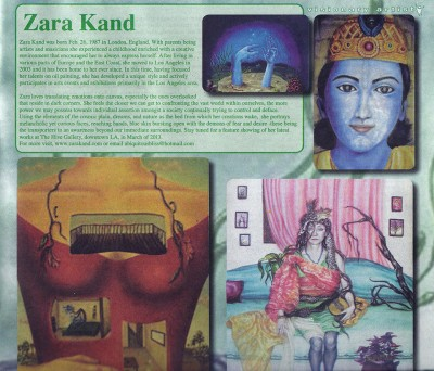 Zara Featured Artist of Vision Magazine 2012